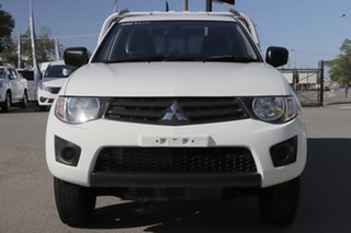 2014 Mitsubishi Triton MN MY15 GL 4x2 White Solid 5 Speed Manual Cab Chassis