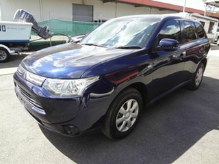 2012 Mitsubishi Outlander ZJ ES (4x4) Blue Continuous Variable Wagon.