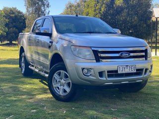 2013 Ford Ranger PX XLT Silver Sports Automatic Utility.