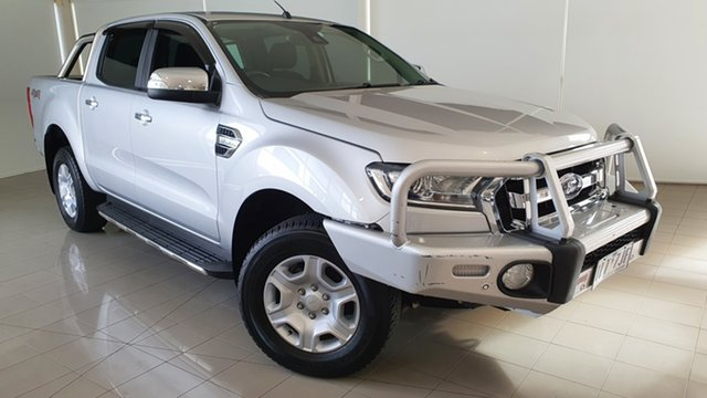 Used Ford Ranger PX MkII XLT Double Cab Deer Park, 2017 Ford Ranger PX MkII XLT Double Cab Silver, Chrome 6 Speed Sports Automatic Utility
