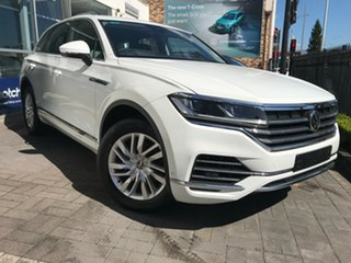 2020 Volkswagen Touareg CR 170TDI Pure White 8 Speed Automatic SUV.