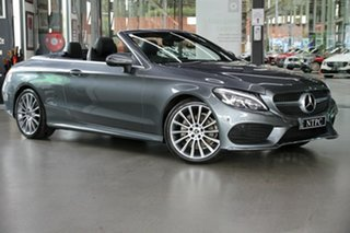 2017 Mercedes-Benz C-Class A205 808MY C200 9G-Tronic Grey 9 Speed Sports Automatic Cabriolet.