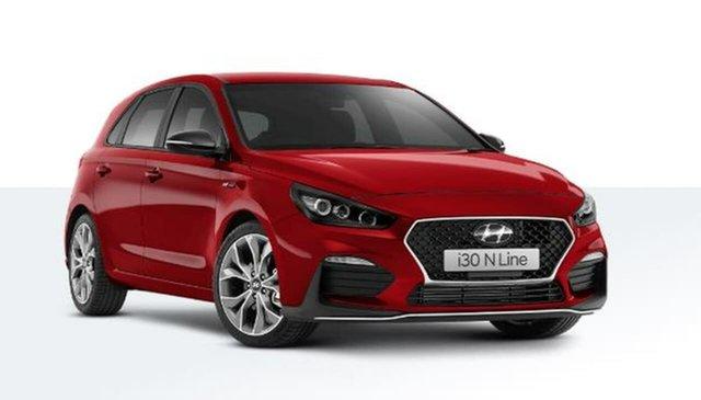 New Hyundai i30 PD.V4 MY21 N Line D-CT Oakleigh, 2020 Hyundai i30 PD.V4 MY21 N Line D-CT Red 7 Speed Sports Automatic Dual Clutch Hatchback