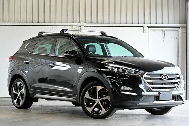 Used Hyundai Tucson TLE Highlander AWD Laverton North, 2015 Hyundai Tucson TLE Highlander AWD Black 6 Speed Sports Automatic Wagon