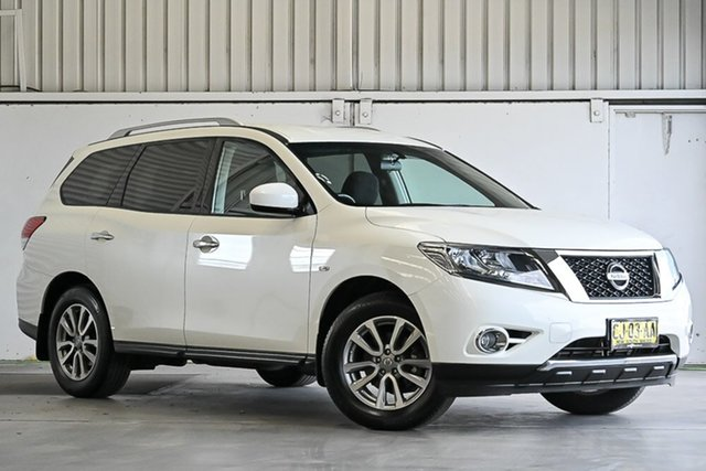 Used Nissan Pathfinder R52 MY15 ST X-tronic 2WD Laverton North, 2016 Nissan Pathfinder R52 MY15 ST X-tronic 2WD Ivory Pearl 1 Speed Constant Variable Wagon