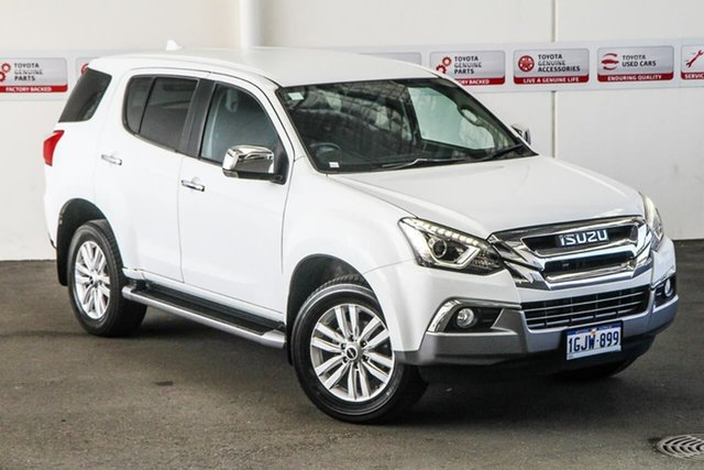 Pre-Owned Isuzu MU-X UC MY17 LS-U (4x4) Rockingham, 2017 Isuzu MU-X UC MY17 LS-U (4x4) White 6 Speed Auto Sequential Wagon