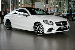 2019 Mercedes-Benz C-Class C205 800MY C200 9G-Tronic White 9 Speed Sports Automatic Coupe.