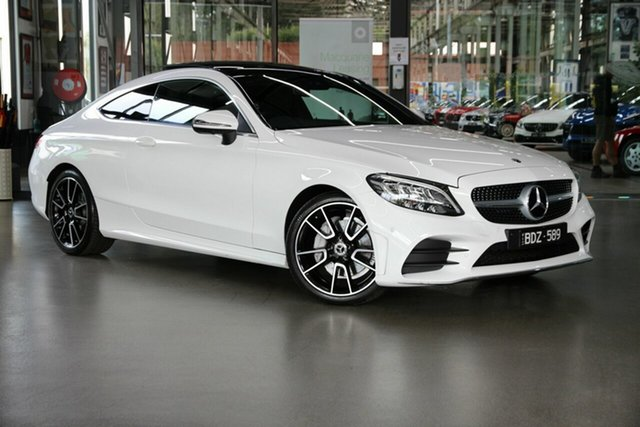 Used Mercedes-Benz C-Class C205 800MY C200 9G-Tronic North Melbourne, 2019 Mercedes-Benz C-Class C205 800MY C200 9G-Tronic White 9 Speed Sports Automatic Coupe