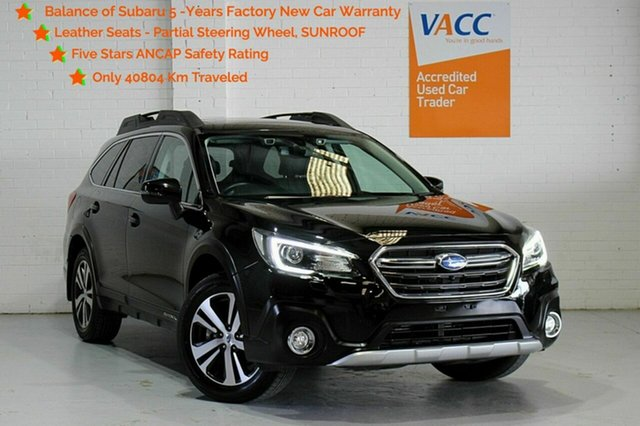 Used Subaru Outback B6A MY19 2.5i CVT AWD Premium Moorabbin, 2019 Subaru Outback B6A MY19 2.5i CVT AWD Premium Black 7 Speed Constant Variable Wagon