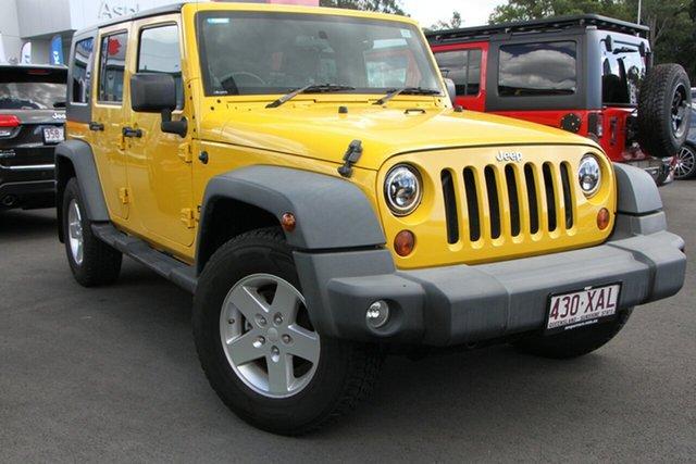 Used Jeep Wrangler JK Unlimited Sport Aspley, 2007 Jeep Wrangler JK Unlimited Sport Yellow 4 Speed Automatic Softtop