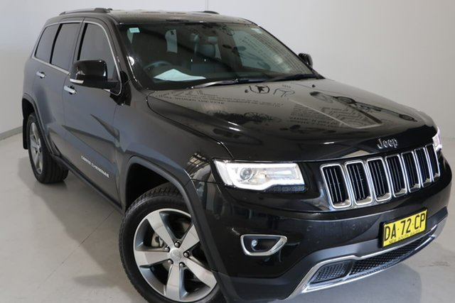 Used Jeep Grand Cherokee WK MY15 Limited Wagga Wagga, 2015 Jeep Grand Cherokee WK MY15 Limited Black 8 Speed Sports Automatic Wagon