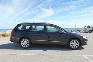2008 Volkswagen Passat Type 3C MY09 125TDI DSG Black 6 Speed Sports Automatic Dual Clutch Wagon.