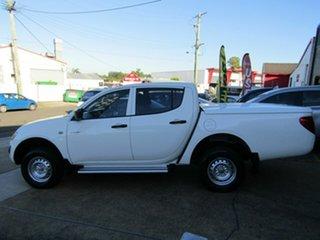 2009 Mitsubishi Triton MN MY10 GLX Double Cab 4x2 White 5 Speed Manual Utility