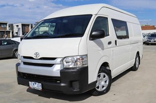 2015 Toyota HiAce KDH221R High Roof Super LWB White 4 Speed Automatic Van.