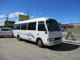 2002 Toyota Coaster White 5 Speed Manual Bus.