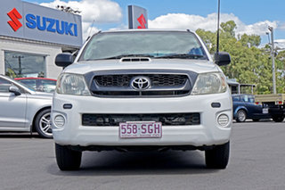 2008 Toyota Hilux KUN16R MY09 SR 4x2 White 5 Speed Manual Utility.