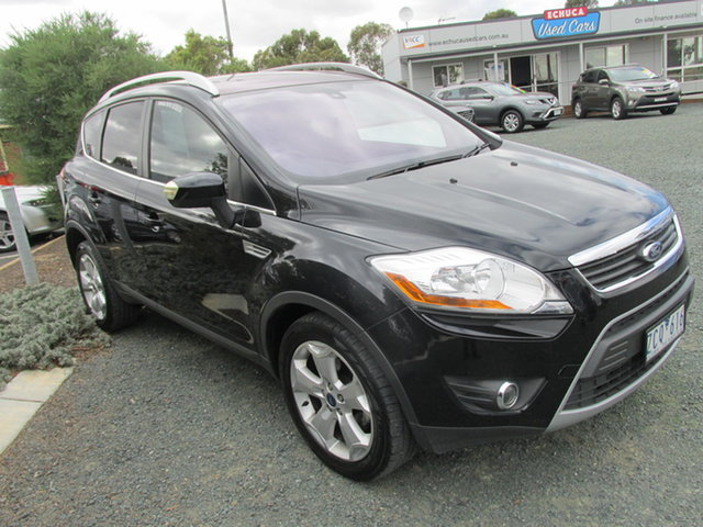 Used Ford Kuga TE Titanium AWD Echuca, 2012 Ford Kuga TE Titanium AWD Black 5 Speed Sports Automatic Wagon