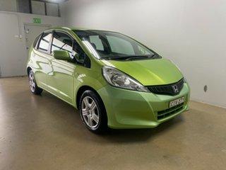 2012 Honda Jazz GE MY12 GLi Green 5 Speed Automatic Hatchback.