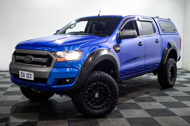 Used Ford Ranger PX MkII 2018.00MY XLS Double Cab Edgewater, 2018 Ford Ranger PX MkII 2018.00MY XLS Double Cab Blue 6 Speed Sports Automatic Utility