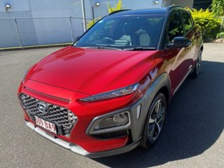 2017 Hyundai Kona OS MY18 Highlander 2WD Red 6 Speed Sports Automatic Wagon.