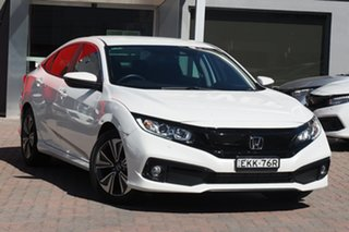 2020 Honda Civic 10th Gen MY20 VTi-L White 1 Speed Constant Variable Hatchback.