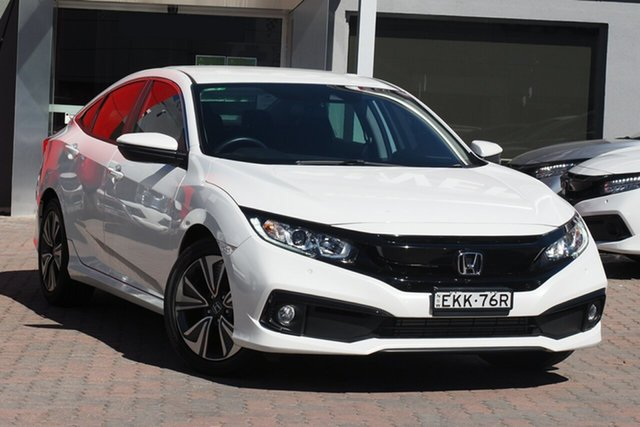 Used Honda Civic 10th Gen MY20 VTi-L Parramatta, 2020 Honda Civic 10th Gen MY20 VTi-L White 1 Speed Constant Variable Hatchback