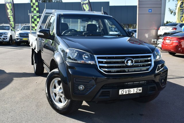Used Great Wall Steed K2 Tuggerah, 2018 Great Wall Steed K2 Black 6 Speed Manual Cab Chassis