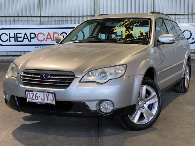 Used Subaru Outback B4A MY08 AWD Rocklea, 2007 Subaru Outback B4A MY08 AWD Silver 4 Speed Sports Automatic Wagon