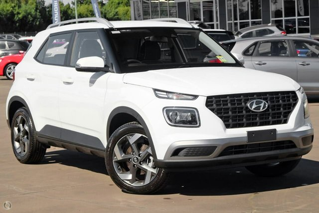 New Hyundai Venue QX.V3 MY21 Active Oakleigh, 2021 Hyundai Venue QX.V3 MY21 Active White 6 Speed Automatic Wagon