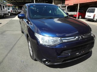 2012 Mitsubishi Outlander ZJ ES (4x4) Blue Continuous Variable Wagon