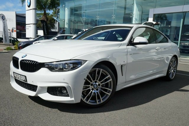 Used BMW 430i F32 MY17 M Sport Brookvale, 2019 BMW 430i F32 MY17 M Sport Alpine White 8 Speed Automatic Coupe