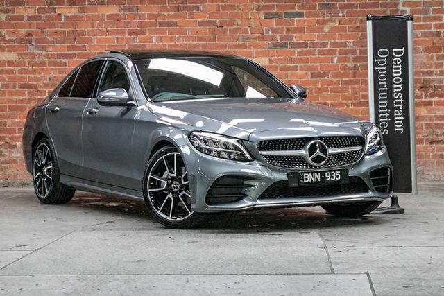 Demonstrator Mercedes-Benz C-Class W205 801MY C200 9G-Tronic Mulgrave, 2021 Mercedes-Benz C-Class W205 801MY C200 9G-Tronic Selenite Grey 9 Speed Sports Automatic Sedan