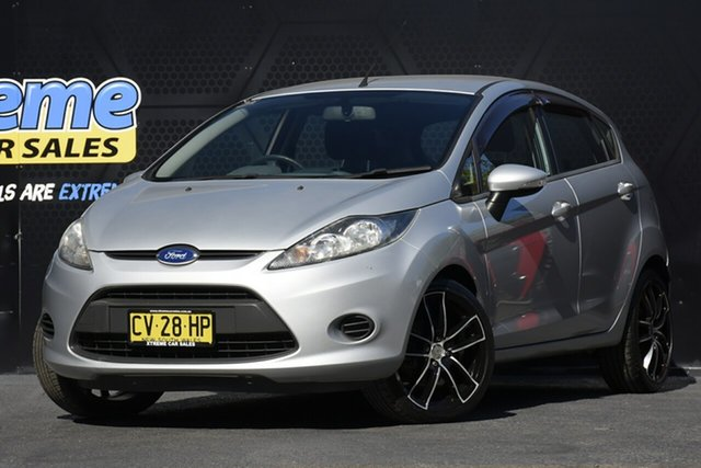Used Ford Fiesta WT CL Campbelltown, 2012 Ford Fiesta WT CL Silver 5 Speed Manual Hatchback