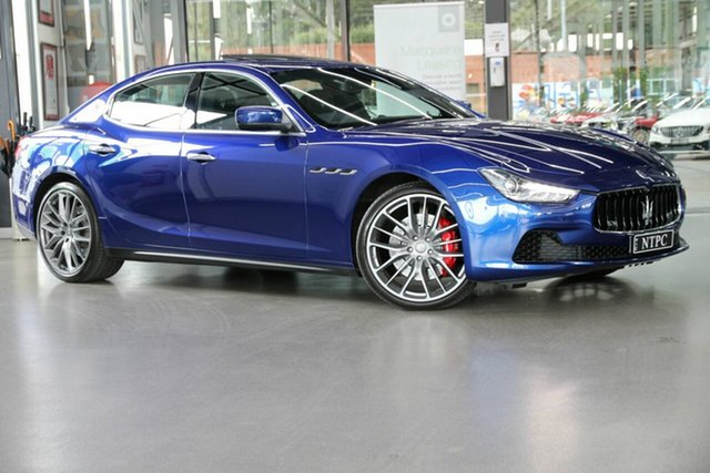 Used Maserati Ghibli M157 MY16 S North Melbourne, 2015 Maserati Ghibli M157 MY16 S Blue 8 Speed Sports Automatic Sedan