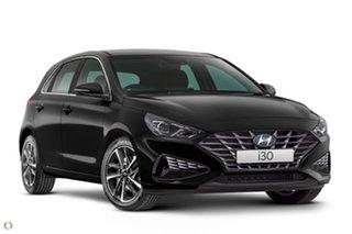 2020 Hyundai i30 PD.V4 MY21 Elite Black 6 Speed Sports Automatic Hatchback.