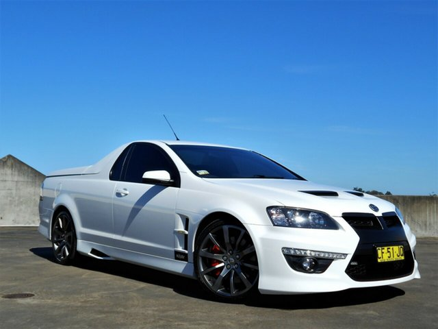 Used Holden Special Vehicles Maloo E Series 3 MY12.5 R8 Brookvale, 2012 Holden Special Vehicles Maloo E Series 3 MY12.5 R8 White 6 Speed Manual Utility