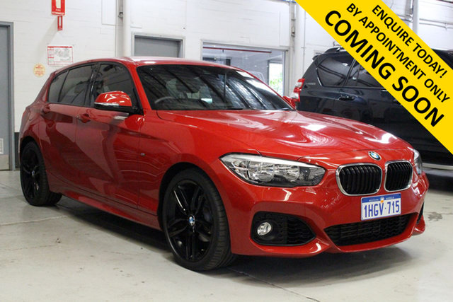Used BMW 118i F40 M Sport Bentley, 2017 BMW 118i F40 M Sport Red 8 Speed Automatic Hatchback