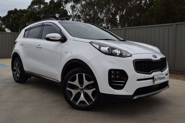 Used Kia Sportage QL MY18 GT-Line AWD Echuca, 2017 Kia Sportage QL MY18 GT-Line AWD White 6 Speed Sports Automatic Wagon