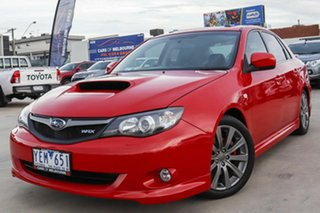 2009 Subaru Impreza G3 MY09 WRX AWD Red 5 Speed Manual Sedan.