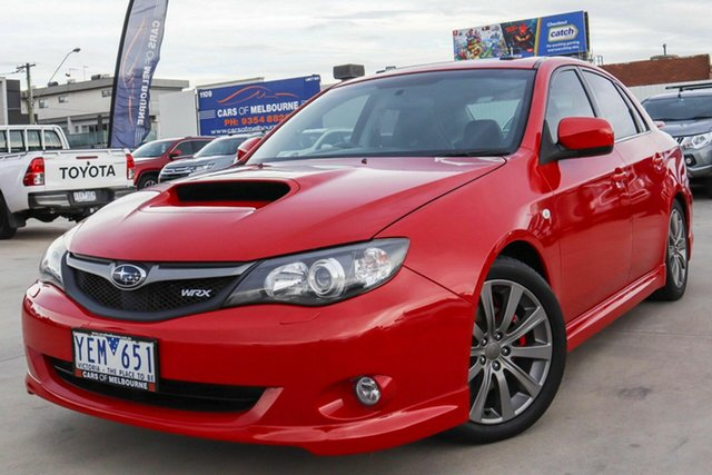 Used Subaru Impreza G3 MY09 WRX AWD Coburg North, 2009 Subaru Impreza G3 MY09 WRX AWD Red 5 Speed Manual Sedan