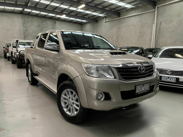 Used Toyota Hilux KUN26R MY14 SR5 Double Cab Coburg North, 2014 Toyota Hilux KUN26R MY14 SR5 Double Cab Gold 5 Speed Automatic Utility