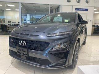 2020 Hyundai Kona Os.v4 MY21 N-Line D-CT AWD Grey 7 Speed Sports Automatic Dual Clutch Wagon.