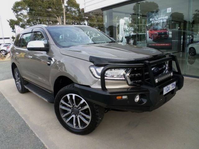 Used Ford Everest UA II MY19 Titanium (4WD 7 Seat) Wangaratta, 2018 Ford Everest UA II MY19 Titanium (4WD 7 Seat) 10 Speed Auto Seq Sportshift SUV