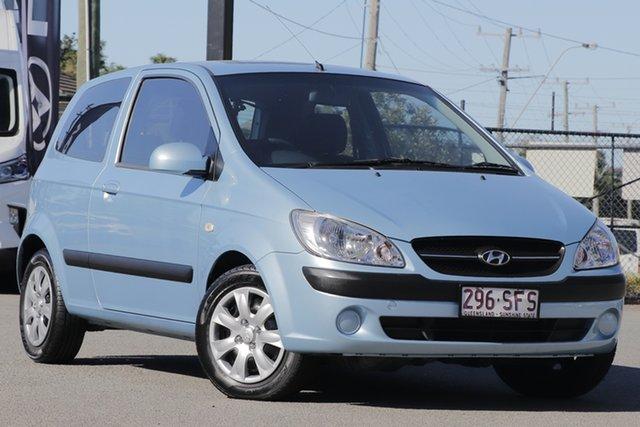 Used Hyundai Getz TB MY09 S Rocklea, 2010 Hyundai Getz TB MY09 S Sky Blue 5 Speed Manual Hatchback