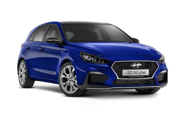 New Hyundai i30 PD.V4 MY21 N Line D-CT Premium Oakleigh, 2021 Hyundai i30 PD.V4 MY21 N Line D-CT Premium Blue 7 Speed Sports Automatic Dual Clutch Hatchback