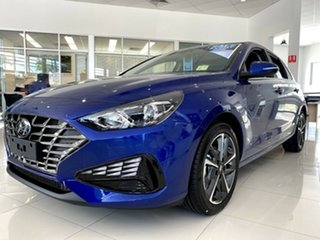 2021 Hyundai i30 PD.V4 MY21 Active Intense Blue 6 Speed Sports Automatic Hatchback.
