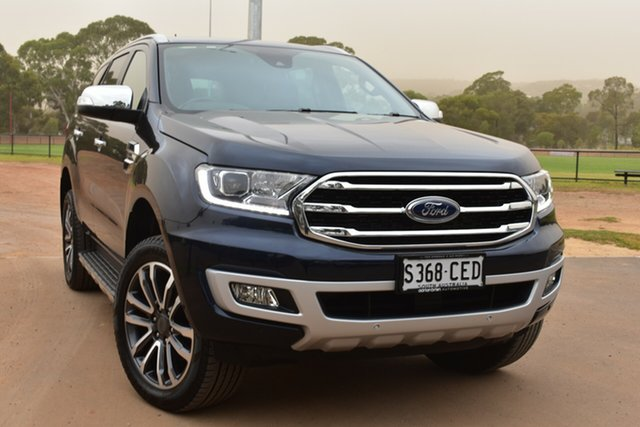 Used Ford Everest UA II 2020.25MY Titanium St Marys, 2020 Ford Everest UA II 2020.25MY Titanium Blue 10 Speed Sports Automatic SUV