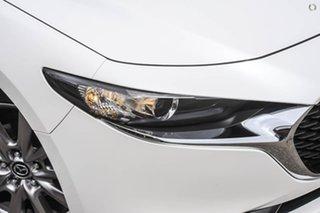 2021 Mazda 3 BP2S7A G20 SKYACTIV-Drive Evolve White 6 Speed Sports Automatic Sedan.