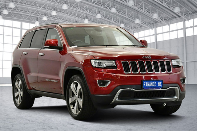Used Jeep Grand Cherokee WK MY15 Limited Victoria Park, 2015 Jeep Grand Cherokee WK MY15 Limited Red 8 Speed Sports Automatic Wagon