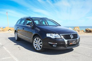 2008 Volkswagen Passat Type 3C MY09 125TDI DSG Black 6 Speed Sports Automatic Dual Clutch Wagon.